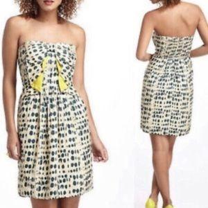 Anthropologie Vineet Bahl Strapless Silk Dress L